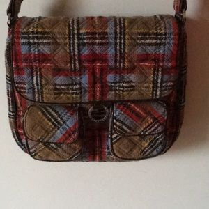 Adorable Vera Bradley plaid crossbody
